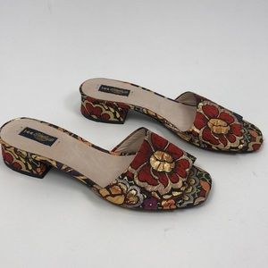 ANTHROPOLOGY SHELLY FLORAL SLIP ON SLIDES 40